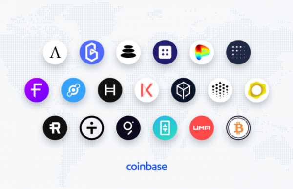 Coinbase опубликовала список претендентов на листинг. В него попали THETA, Ampleforth и Balancer
