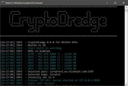 CryptoDredge получил поддержку новых алгоритмов