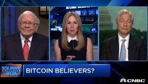 Уоррен Баффетт и Джейми Даймон определились, кто больше ненавидит биткоин